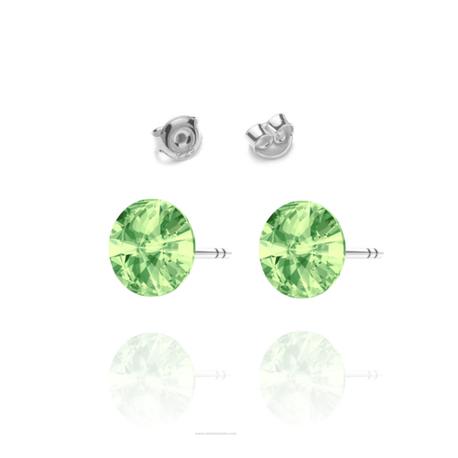 Kolczyki Swarovski z zielonym kamieniem wkrętki   EJE157 (1)