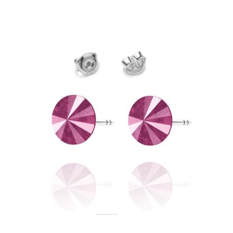 Kolczyki Swarovski z fioletowym kamieniem wkretki | EJE161 (1)