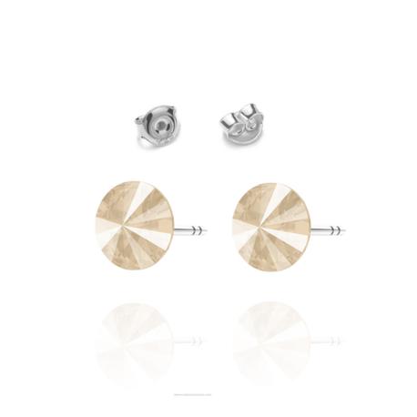 Kolczyki Swarovski z jasno różowym kamieniem wkętki   EJE164 (1)