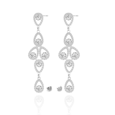 Kolczyki SWAROVSKI kryształy Swarovski biżuteria ślubna   EJE169 (1)
