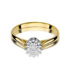 Pierścionek złoty z diamentami W-401 0,10ct | EJR139 (2)