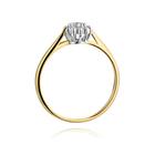 Pierścionek złoty z diamentami W-401 0,10ct | EJR139 (3)