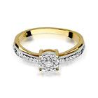 Pierścionek złoty z diamentami W-302 0,25ct   EJR140 (2)