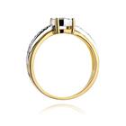 Pierścionek złoty z diamentami W-302 0,25ct   EJR140 (3)