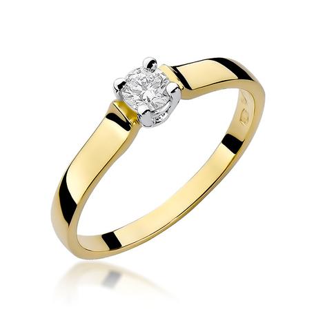 Pierścionek złoty z diamentami W-244 0,20ct   EJR141 (1)