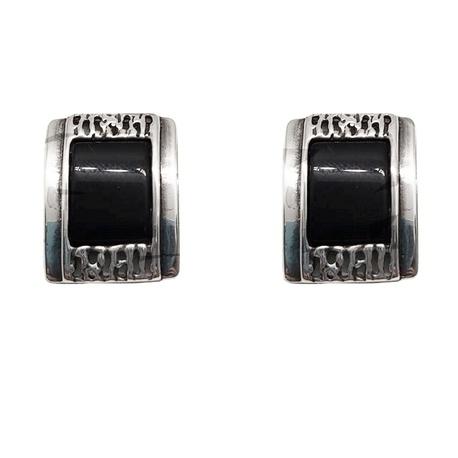 Kolczyki srebrne z onyksem | EJE179 (1)