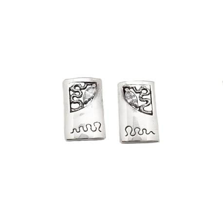 Kolczyki srebrne z cyrkonią | EJE180 (1)