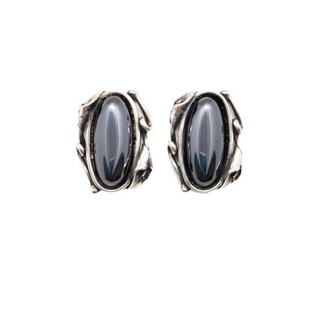 Kolczyki srebrne z onyksem | EJE185 (1)
